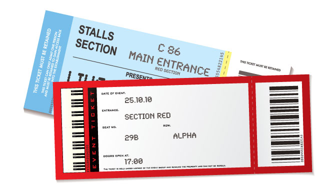 event ticket printing raffle ticket printing same day order