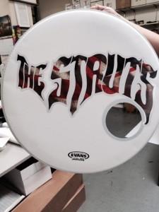 The Struts Drum Skin Label Printing