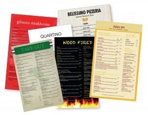 SLB Printing Plastic menus