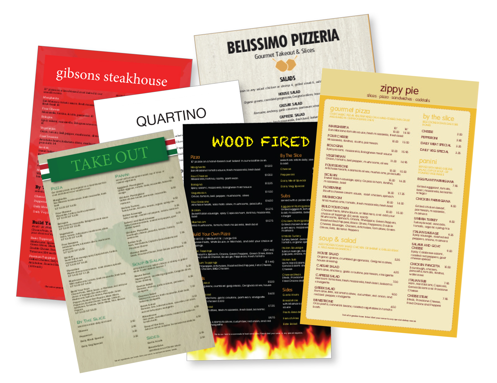Food Menus printed on plastic in the Los Angeles area