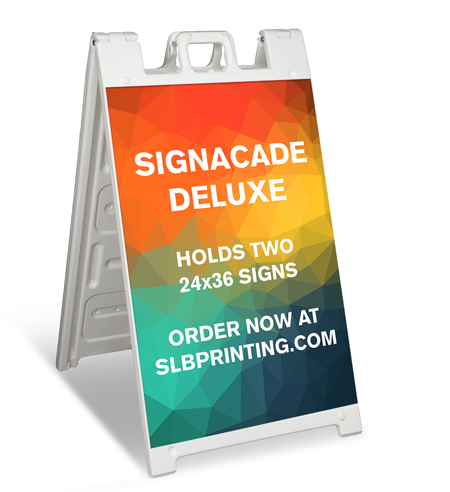 SLB Printing A frame signacade deluxe by SLB Printing
