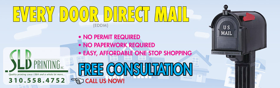 EDDM from SLB Printing in Los Angeles - FREE Consultation for your EDDM needs