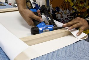 Canvas stretching from SLB Printing for canvas printing