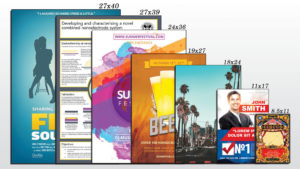 Standard Poster Sizes from Movie poster to flyer and all common sizes in between | SLB Printing | Los Angeles CA