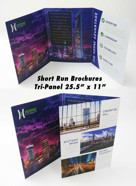 Short Run Tri-Fold Brochure Printing up to 30