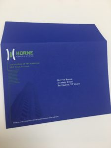White ink addressing on dark color envelopes in Los Angeles by SLB Printing